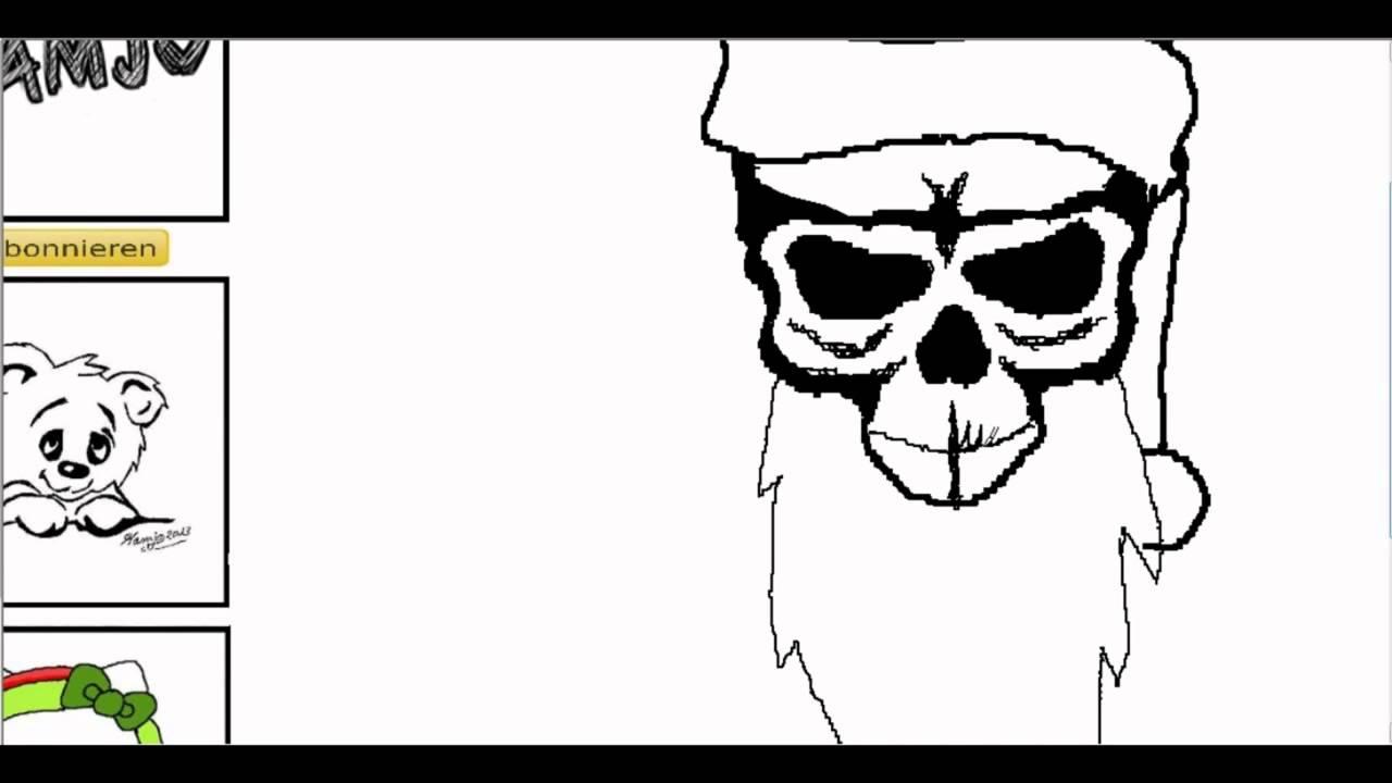 xmas skull weihnachtsmann totenkopf einfach und schnell. Black Bedroom Furniture Sets. Home Design Ideas