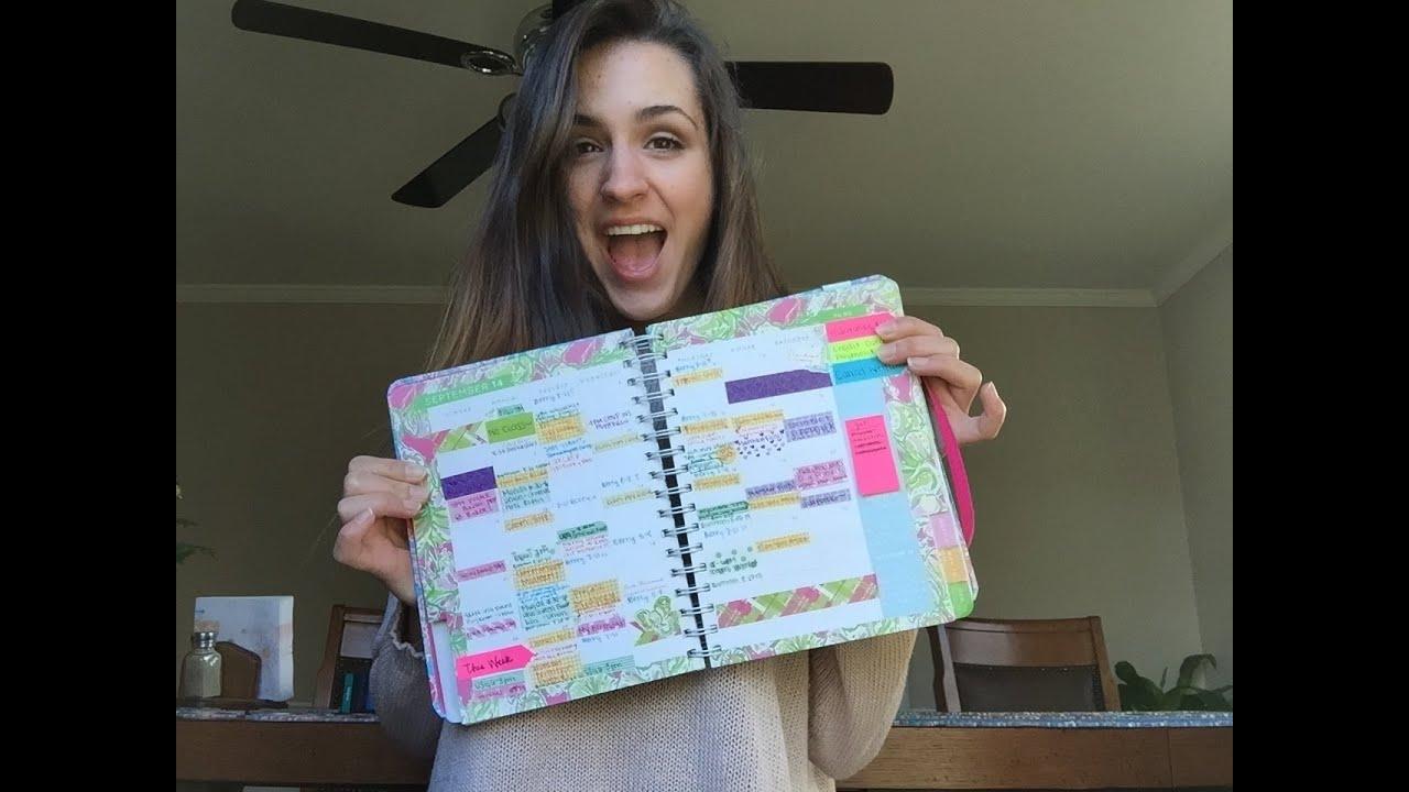 How I Organize My Agenda | Lilly Pulitzer 2014-2015 - YouTube