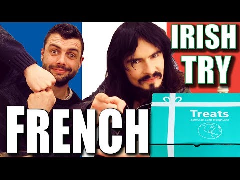 Irish People Taste Test French Treats & Snacks!! - 'TryTreat