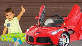 Tema Surprise toys Unboxing new Power Wheels car and ride on car