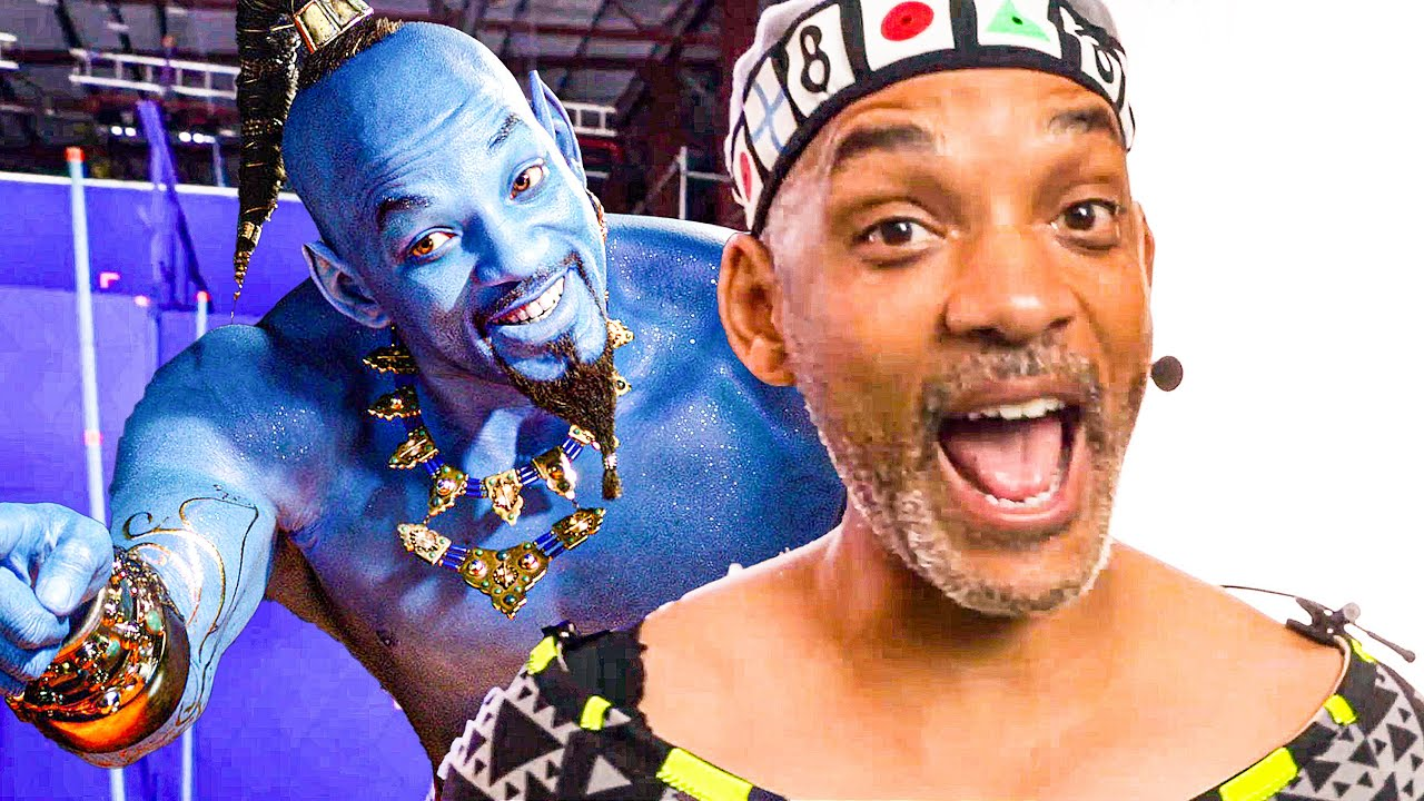 Will Smith as Genie Behind the Scenes - ALADDIN Bonus Clips (2019)
