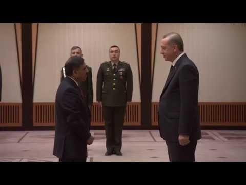 Pakistan Ambassador to Turkey presenting credentials to Turkish President