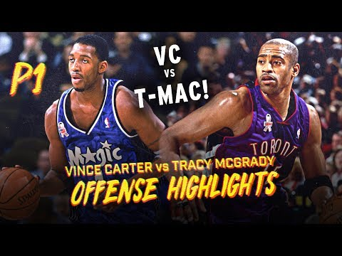 Vince Carter vs Tracy McGrady Offense Highlights Montage (PART 1) RAPTORS / MAGIC YEARS!