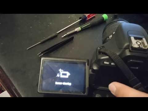 DSLR Fix and repair Canon EOS Camera broken Cracked LCD Screen