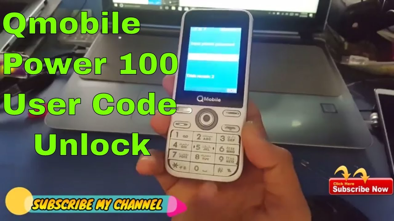 qmobile power 100 User Code Password Unlock