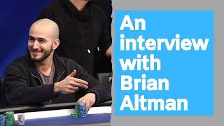 Brian Altman Discusses World Poker Tour Domination