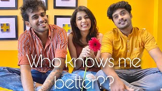 Who knows me better | Finally a Day Out | Diya Krishna