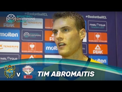Tim Abromaitis - Post-game interview after the semi-final against Venice