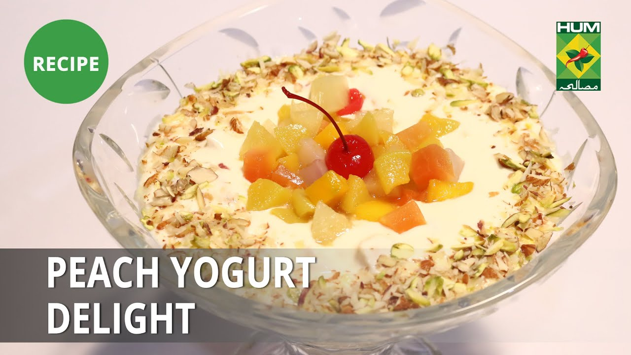 Peach Yogurt Delight Recipe | Lively Weekends | Dessert