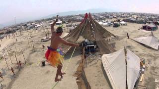 Slackline Oasis at Burning Man 2013