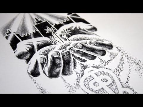 Zion Spiritual Tattoo Design - Speed Drawing