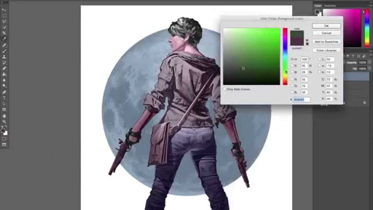 Digital Character Design And Painting Pdf : Digital painting character design demo youtube