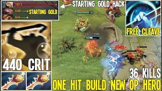 Brewmaster 2 Divine repier And Starting Gold Hack 440% Crit   Dota 2 Silly Builds