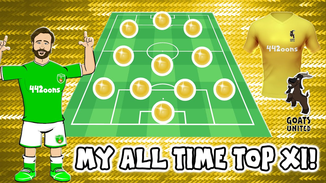 🐐⚽️MY GOAT XI!⚽️🐐 (442oons All-Time Top XI Footballers)