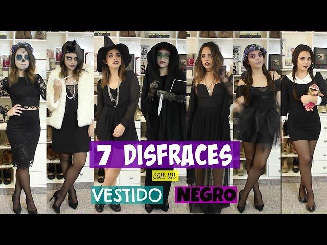 7 disfraces con un vestido negro