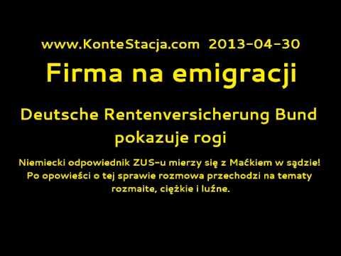 Firma na emigracji : Deutsche Rentenversicherung Bund pokazuje rogi