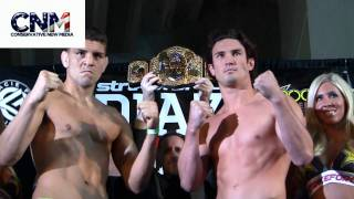 Nick Diaz vs. KJ Noons 2 Weigh-In in 1080P Full HD!  - StrikeForce MMA World Championship Fight