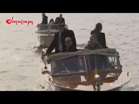 Տեսանյութ.  Ինչպես դիմավորեցին Նիկոլ Փաշինյանին Սուրբ Ղազար կղզում