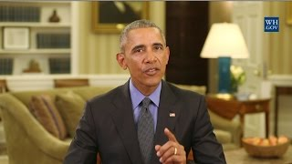 Obamas Final Weekly Address : You Made Me A Better President
