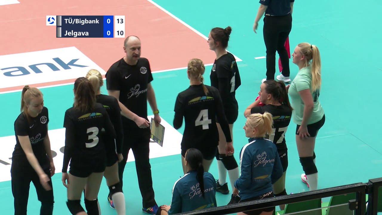 TÜ/Bigbank vs Jelgava ,  Baltic Women`s Volleyball League 2020-2021, 26.02.2021