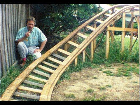 The Termite - backyard roller coaster (1989) - YouTube