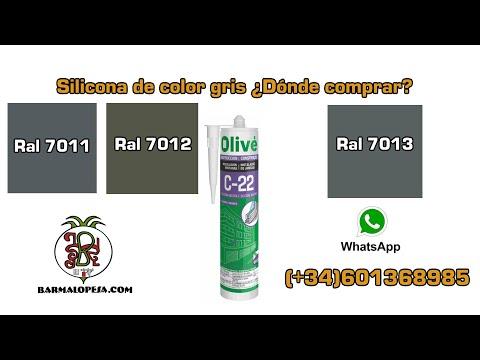 Silicona Neutra Gris RAL 7011,7012 Y 7013 ¿Dónde Comprar?📌