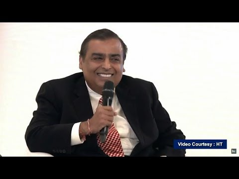 RIL CMD Shri Mukesh D. Ambani in conversation with Editor-In-Chief, HT.