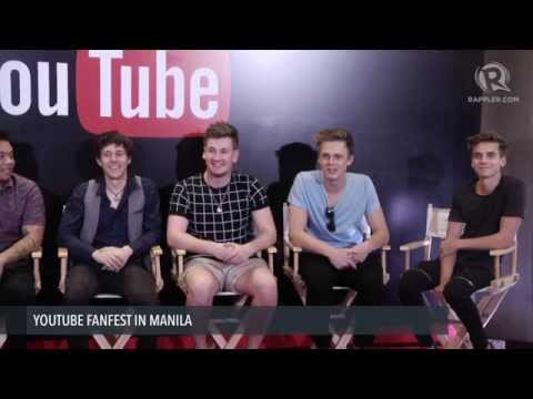 YouTube stars in Manila, all set for Fan Fest