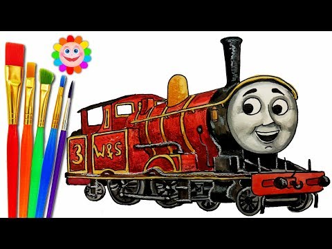 How to DRAW Train Thomas and Friends TRAINS Video for KIDS Coloring     How to DRAW Train Thomas and Friends TRAINS Video for KIDS Coloring Pages  Adam   coloring thomas