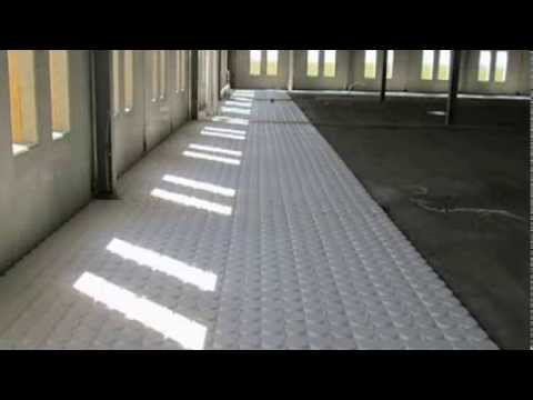 radiant heated flooring for commercial infloor heat