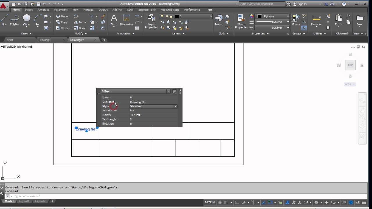 Autocad How To Create A New A4 Template And A Custom Title Block