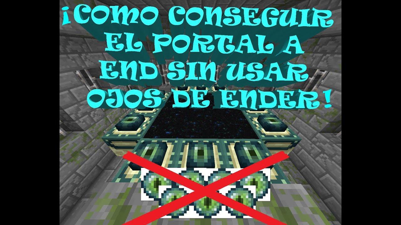 como encontrar el portal al fin en minecraft sin ojos de ender - YouTube