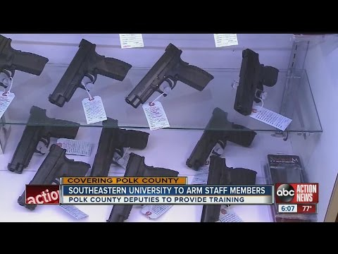 Despite state ban, Polk Sheriff finds legal way to arm staff and faculty at Lakeland university