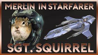 Landing Merlin in Starfarer | Sargent Squirrel | Star Citizen 2.4 Gameplay Highlight