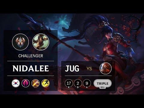 Nidalee Jungle vs Gragas - KR Challenger Patch 9.15