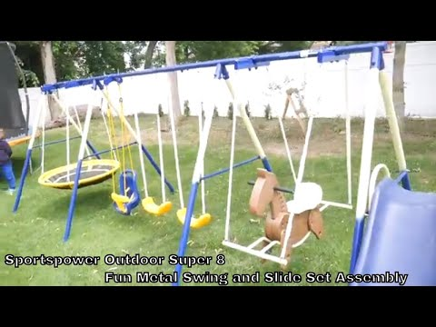 Sportspower Metal Swing and Slide Set Assembly instructions and review