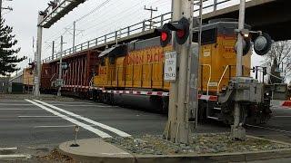 Union Pacific Folsom Turn Local, Sunrise Boulevard Railroad Crossing, Sacrt On Overpass