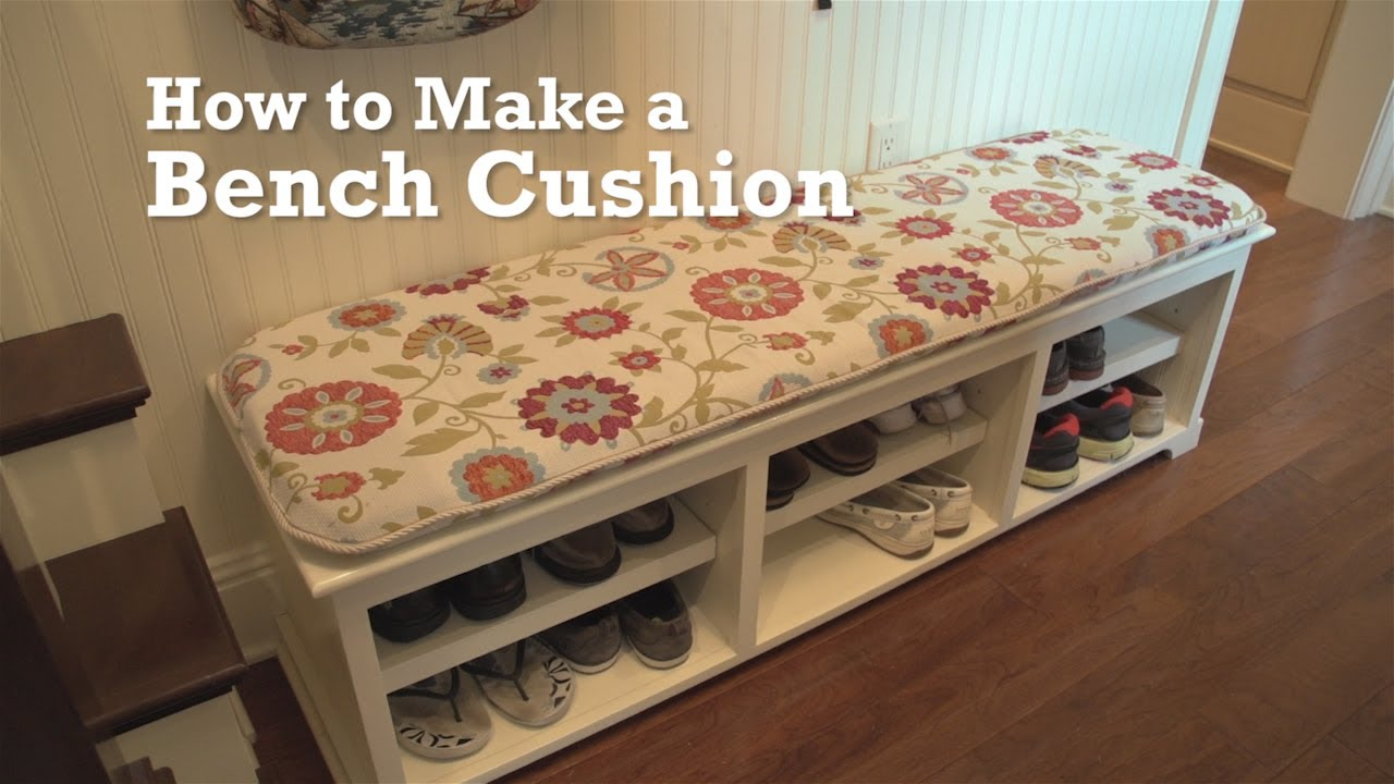 how to make a bench cushion youtube. Black Bedroom Furniture Sets. Home Design Ideas