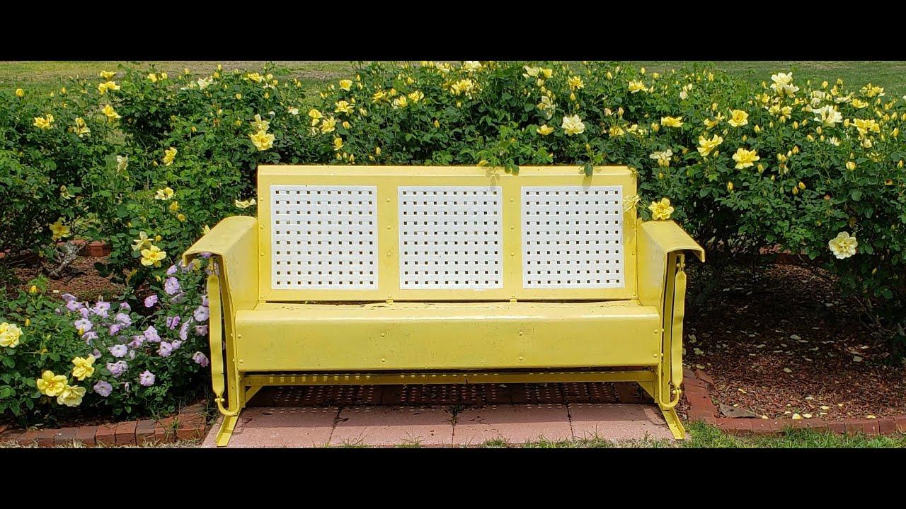 Diy Vintage Metal Patio Porch Glider