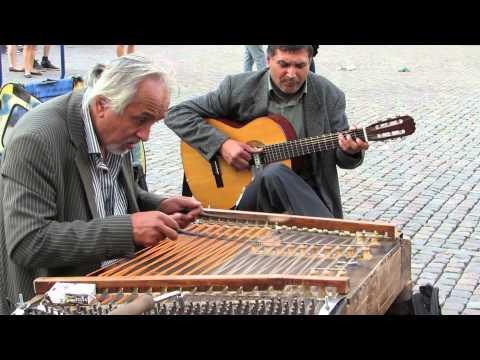 Hungarian gypsy Street Musicians(Cimbalom) - Copenhagen, August 2014 (Part 3)