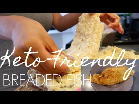 KETO DIET RECIPE: HEALTHY ALTERNATIVE BREADED FISH USING ALMOND FLOUR