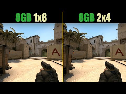 CS:GO 8GB RAM (Single channel vs. Dual channel)