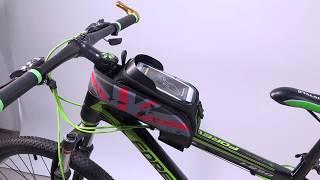 Rockbros Bike Top Front Tube Frame Bag Water Resistant Touchscreen Phone Holder Case Youtube