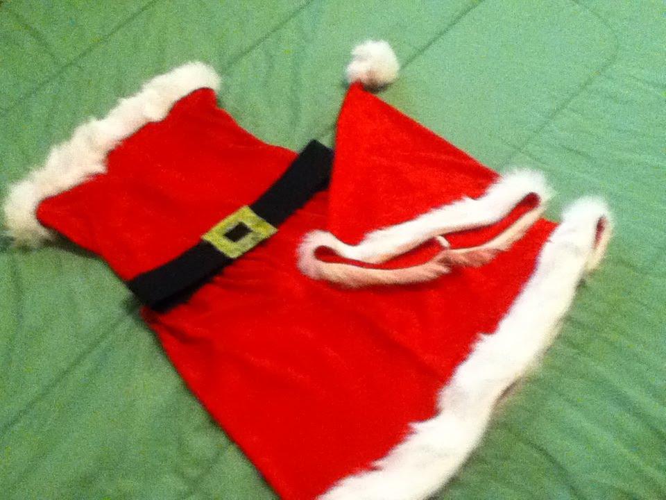 fa02e1a48 DIY Santa Baby Costume! - YouTube
