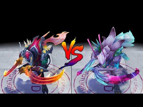 Odyssey Kha Zix vs Death Blossom Kha'Zix Skin Comparison Spotlight (League of Legends)