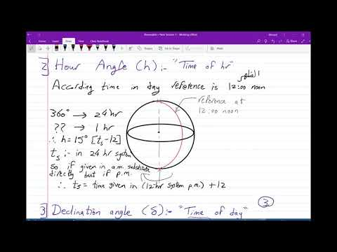 Renewable Solar Angles part 1