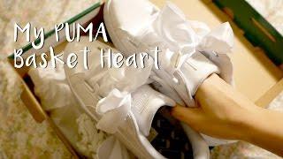 【TRY ON】PUMA BASKET HEART 緞帶蝴蝶結夢幻婚禮鞋 『實穿街拍』