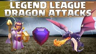 Clash of Clans | Legend League TH11 Dragon Attacks | Legenden Liga RH11 Drachen Angriffe | Part 2