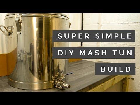 SUPER Simple DIY Thermpot Mash Tun Build For Homebrew