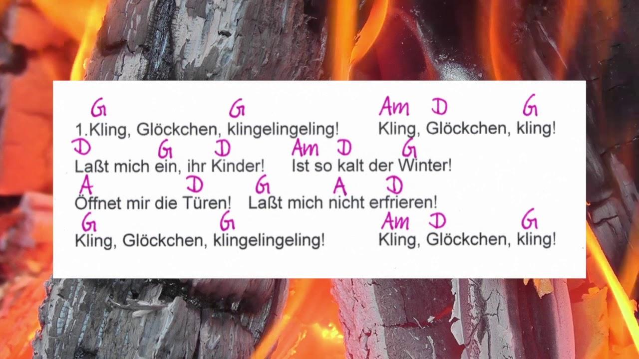Kling Glöckchen Weihnachtslied Chords And Lyrics Campfire